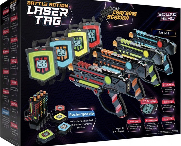 Laser tag and course set-up